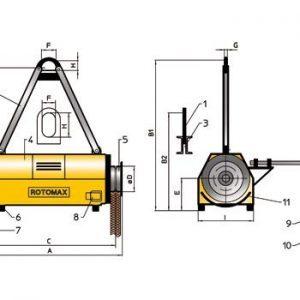 Drawing - Load turning device ROTOMAX R