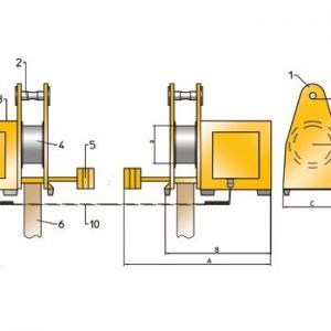 Drawing - Load turning device ROTOMAX RE