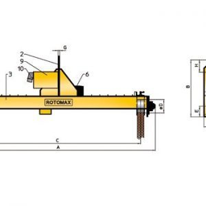 Drawing - Load turning device ROTOMAX RV