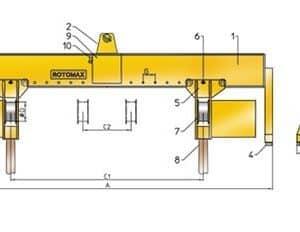 Drawing - Load turning device ROTOMAX RVE