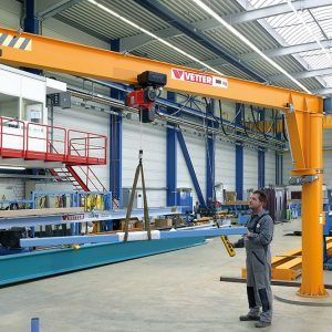 Column-mounted slewing jib crane VETTER MEISTER М