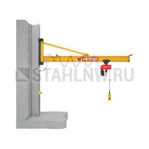 Wall-mounted slewing jib crane VETTER PRAKTIKUS PW - миниатюра фото 1