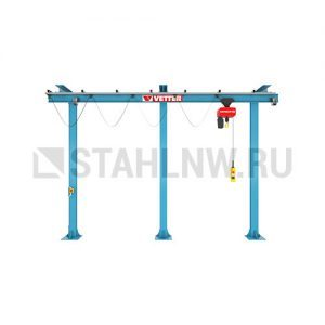Monorail gantry crane on jib support (variable length) VETTER P200