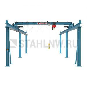 Double-rail gantry with overhead crane (variable length) VETTER P500 OLYMPIA