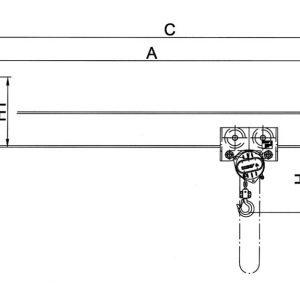 Drawing - Wall-mounted jib crane HADEF 320/01 H