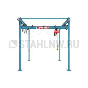 Double-rail gantry with suspension crane VETTER P300