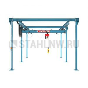 Double-rail gantry with suspension crane (variable length) VETTER P400