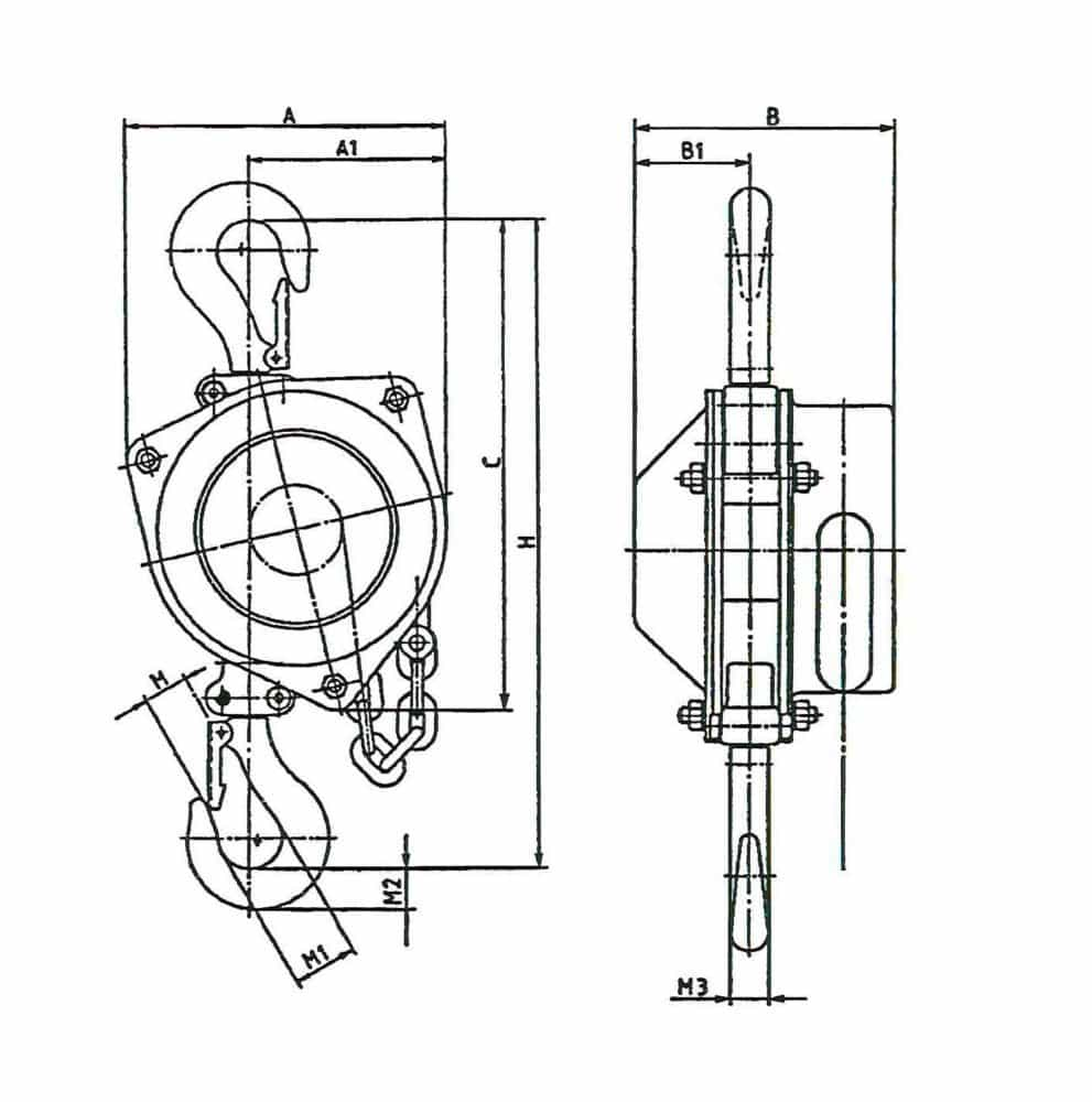 Manual Chain Hoist Hadef 16 12 Stahl Wiring Diagram Drawing