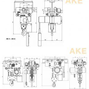 Drawing - Electric chain hoist HADEF 66/04 AKE