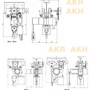 Drawing - Electric chain hoist HADEF 66/04 AKR