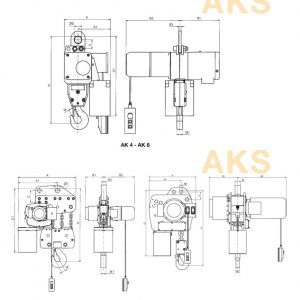 Drawing - Electric chain hoist HADEF 66/04 AKS