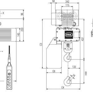 Drawing - Hoists chain electric STAHL ST 1005