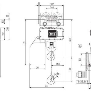 Drawing - Hoists chain electric STAHL ST 3216