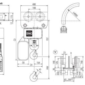 Drawing - Hoists chain electric STAHL ST 5025