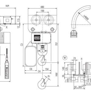 Drawing - Hoists chain electric STAHL ST 6032