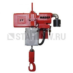 Pneumatic chain hoist HADEF 70/06 APS