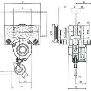 Drawing - Manual chain hoist HADEF 21/12 HR+HH