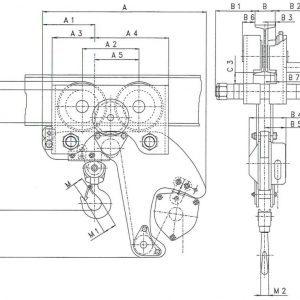 Drawing - Manual chain hoist HADEF 28/12 HR+HH
