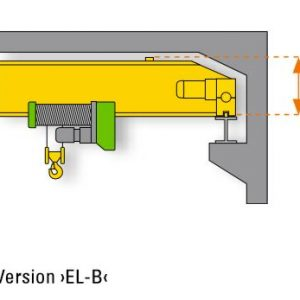 Drawing - Single girder overhead travelling cranes STAHL