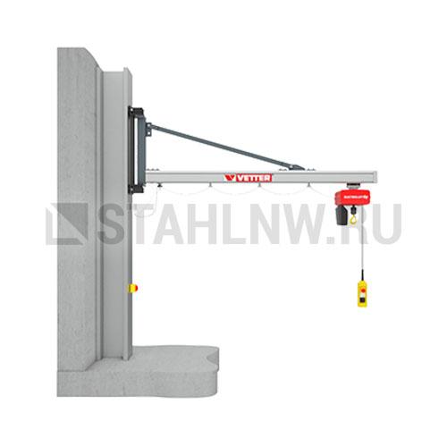 Wall-mounted slewing jib crane VETTER BOY UNILIFT UW - picture 1